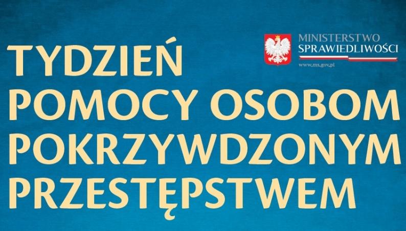 Logo programu Tydzień Pomocy Osobom Pokrzywdzonym Przestępstwem